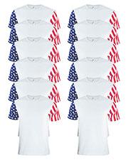 Code V 3976 Men Stars & Stripes T-Shirt 12-Pack at GotApparel