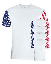Code V 3976 Men Stars & Stripes T-Shirt 5-Pack at GotApparel