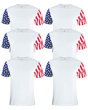 Code V 3976 Men Stars & Stripes T-Shirt 6-Pack at GotApparel