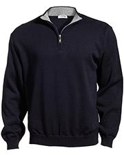 Edwards 4012 Men Quarter-Zip Acrylic Sweater at GotApparel