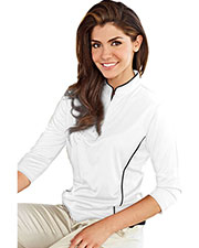 Tri-Mountain Gold 403 Women Glendora Jaquard Knit Pullover Shirt at GotApparel