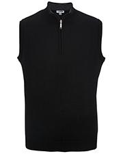 Edwards 4052 Men Quarter-Zip Acrylic Sweater Vest at GotApparel