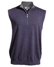Edwards 4074 Unisex Quarter-Zip Fine Gauge Sweater Vest at GotApparel