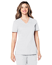 Landau 4125 Women Cvc V-Neck Top With Load Pocket at GotApparel