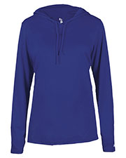 Badger 4165 Women B-Core Long-Sleeve Hooded Tee at GotApparel
