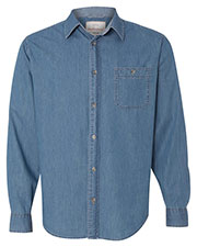 Weatherproof 154695 Men Vintage Denim Long Sleeve Shirt at GotApparel