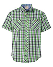 Weatherproof 154620 Men Vintage Plaid Short Sleeve Shirt at GotApparel