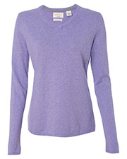 Weatherproof W151363 Women Vintage Cotton Cashmere V-Neck Sweater at GotApparel