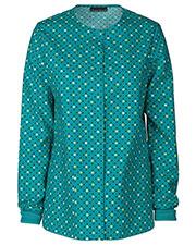 Cherokee 42350C Women Snap Front Warm-Up Jacket at GotApparel