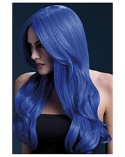Smiffys 42546 Women Fever Khloe Wig, Neon Blue at GotApparel