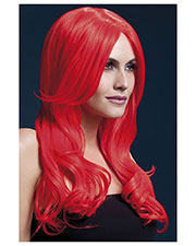 Smiffys 42547 Women Fever Khloe Wig, Neon Red at GotApparel