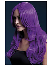 Smiffys 42548 Women Fever Khloe Wig, Neon Purple at GotApparel