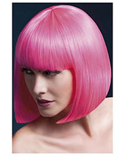 Smiffys 42565 Women Fever Elise Wig, Neon Pink at GotApparel