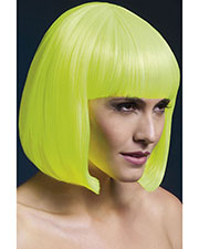 Smiffys 42572 Women Fever Elise Wig, Neon Yellow at GotApparel