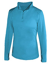 Badger 4286 Women 1/4-Zip With Thumb Hole at GotApparel