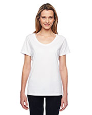 Hanes 42V0 Women Xtemp Performance V-Neck Short-Sleeve Tee at GotApparel