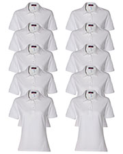 Jerzees 437W Women 5.6 Oz. 50/50 Jersey Polo With Spotshield  10-Pack at GotApparel