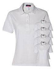Jerzees 437W Women 5.6 Oz. 50/50 Jersey Polo With Spotshield  5-Pack at GotApparel