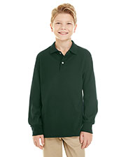 Jerzees 437YL Kids 5.6 Oz 50/50 Long Sleeve Knit Polo With Spotshield Stain Resistance at GotApparel