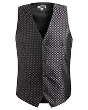 Edwards 4396 Men Grid Brocade Vest at GotApparel