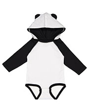 Rabbit Skins 4418 infants Long Sleeve Fine Jersey Bodysuit With Ears at GotApparel