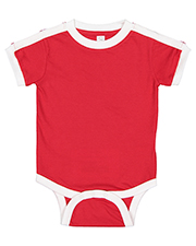 Rabbit Skins 4432 Infant 4.5 oz Soccer Ringer Bodysuit at GotApparel