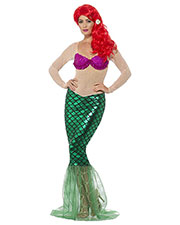 Smiffys 44637S Women Deluxe Sexy Mermaid Costume, Green at GotApparel