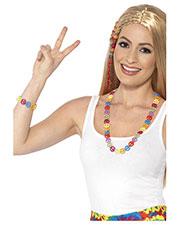 Smiffys 44660 Unisex Hippie Peace Sign Set, Multi-Coloured at GotApparel