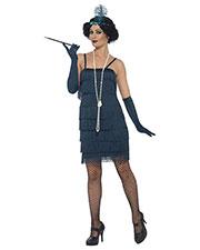 Smiffys 44673X2 Women Flapper Costume, Green at GotApparel