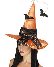 Smiffys 45096 Women Trick Or Treat Witch Hat, Orange at GotApparel