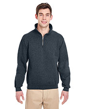 Jerzees 4528 Men 9.5 Oz. 50/50 Super Sweats Nublend Fleece Quarter-Zip Pullover at GotApparel