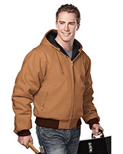Tri-Mountain 4600 Men Timberline Hooded Work Jacket With Quilted Lining at GotApparel