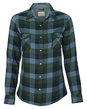Weatherproof W164761 Women Vintage Brushed Flannel Long Sleeve Shirt at GotApparel