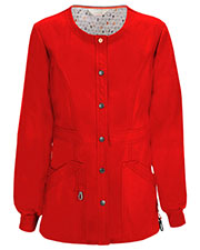 Code Happy 46300A Women Round Neck Warm Up Scrub Jacket at GotApparel