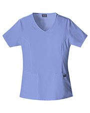 Cherokee Workwear 4724 Women V-Neck Embroidered Top at GotApparel