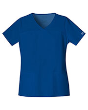 Cherokee Workwear 4727 Women V-Neck Top at GotApparel