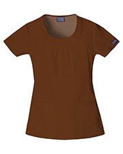 Cherokee Workwear 4761 Women Round Neck Top at GotApparel
