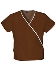 Cherokee Workwear 4800 Women Mini Mock Wrap Top at GotApparel