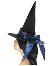Smiffys 48025 Women Deluxe Witch Hat, Black at GotApparel