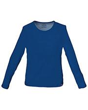 Cherokee Workwear 4818 Women Long Sleeve Underscrub Knit Tee at GotApparel