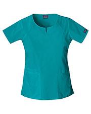 Cherokee Workwear 4824 Women Round Neck Top at GotApparel