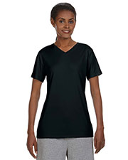 Hanes 483V Women 4 Oz. Cool Dri V-Neck T-Shirt at GotApparel