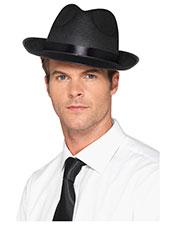 Smiffys 49030 Men 20s Wide Brim Fedora Hat, Black at GotApparel