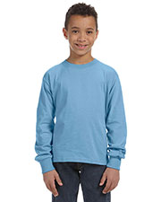 Fruit Of The Loom 4930B Boys 5 Oz. 100% Heavy Cotton Hd Long-Sleeve T-Shirt at GotApparel