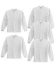 Fruit Of The Loom 4930 Men 5 Oz. 100% Heavy Cotton Hd Long-Sleeve T-Shirt 5-Pack at GotApparel