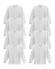 Fruit Of The Loom 4930 Men 5 Oz. 100% Heavy Cotton Hd Long-Sleeve T-Shirt 8-Pack at GotApparel