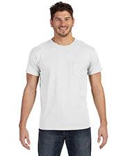 Hanes 498P Men 4.5 Oz. 100% Ringspun Cotton Nano-T T-Shirt With Pocket at GotApparel