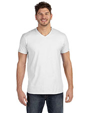 Hanes 498V Men 4.5 Oz. 100% Ringspun Cotton Nano-T V-Neck T-Shirt at GotApparel