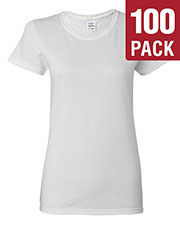 Gildan G500L Women Heavy Cotton 5.3 Oz. Missy Fit T-Shirt 100-Pack at GotApparel