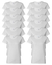 Gildan G500L Women Heavy Cotton 5.3 Oz. Missy Fit T-Shirt 12-Pack at GotApparel